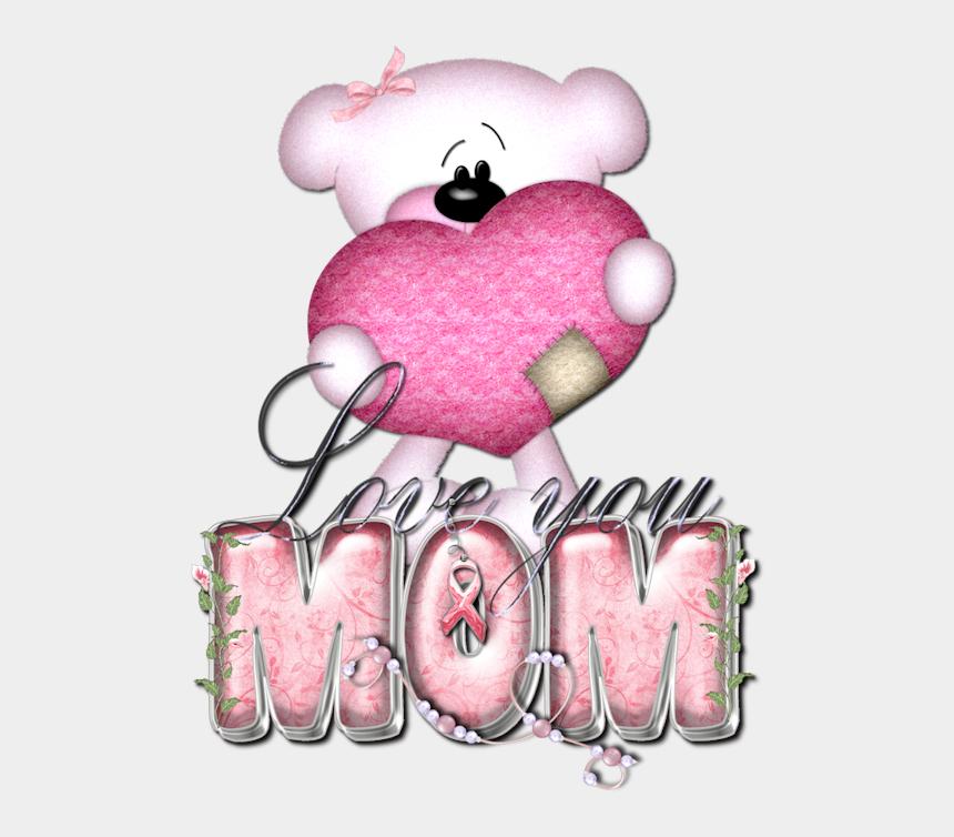 i love you mom clipart, Cartoons - Glitter Text » Misc » Think Pink Love You Mom - Love You Mom Glitter