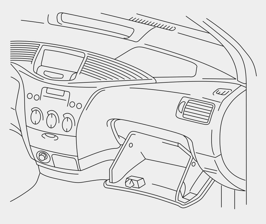 car clipart outline, Cartoons - Vector Outline Car - Drawing Of Car Dashboard