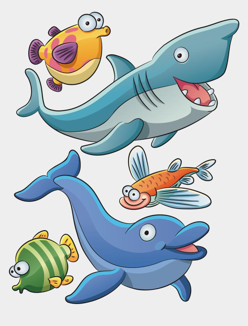 aquatic animals clipart, Cartoons - Animals Under Sea Cartoon