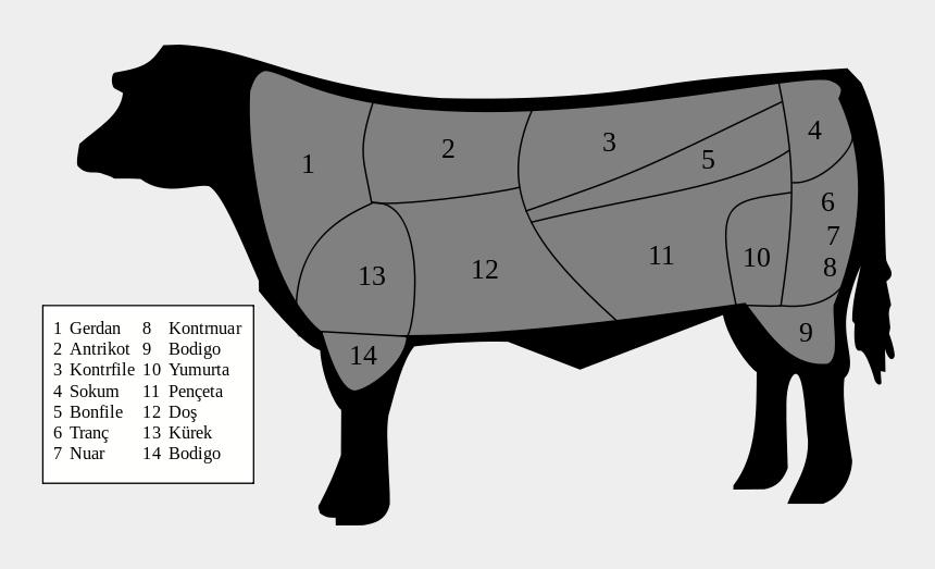t bone steak clipart, Cartoons - Cuts Of Beef