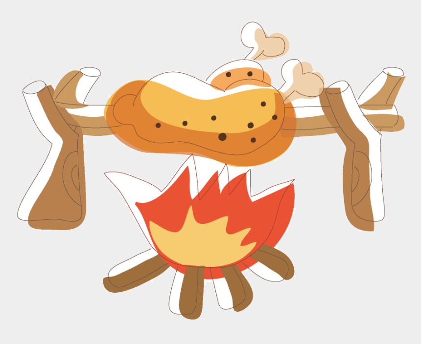 chicken meat clipart, Cartoons - Chicken On Fire Png