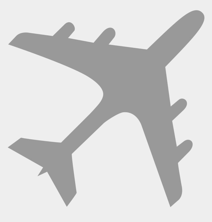 plane landing clipart, Cartoons - Airplane Silhouette Gray - Airplane Gray