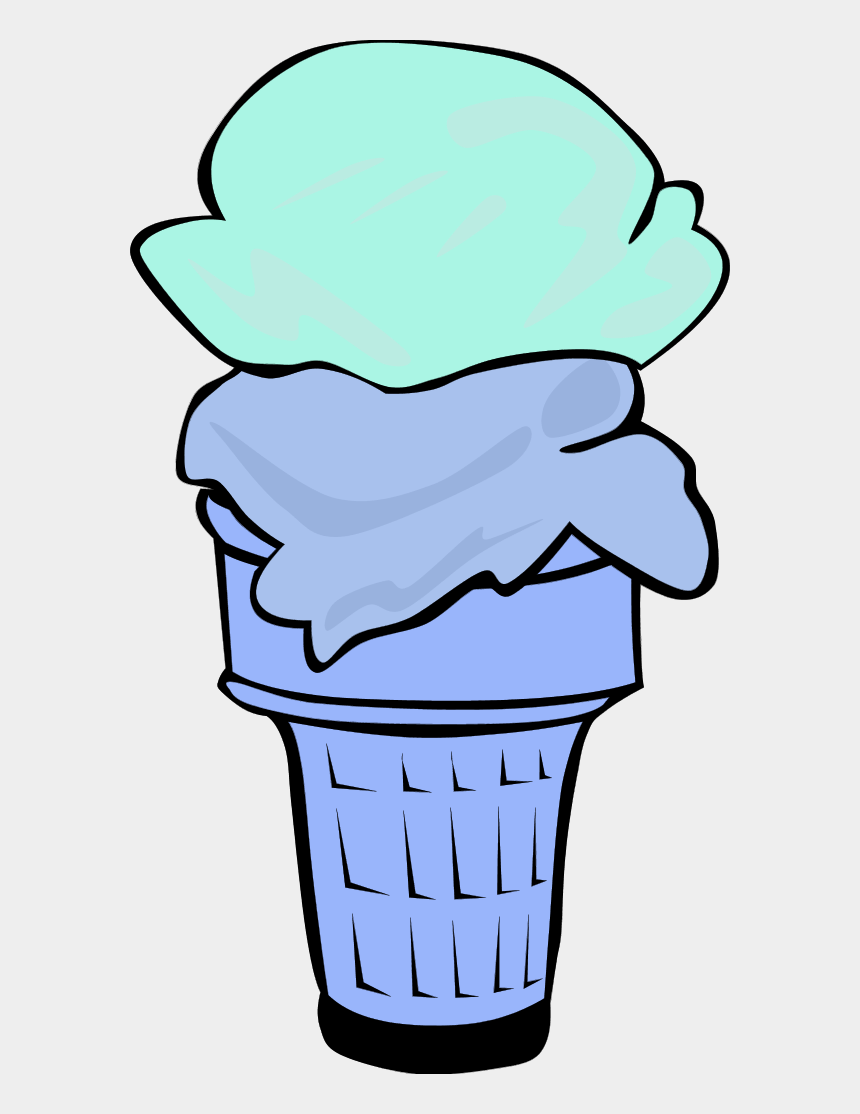 food menu clipart, Cartoons - Ice Cream Cone For Fast Food Menu - 2 Ice Cream Scoop Clipart