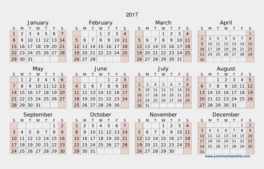 2017 calendar clipart, Cartoons - Clipart Calendar May - Calendar 2018 Png High Resolution