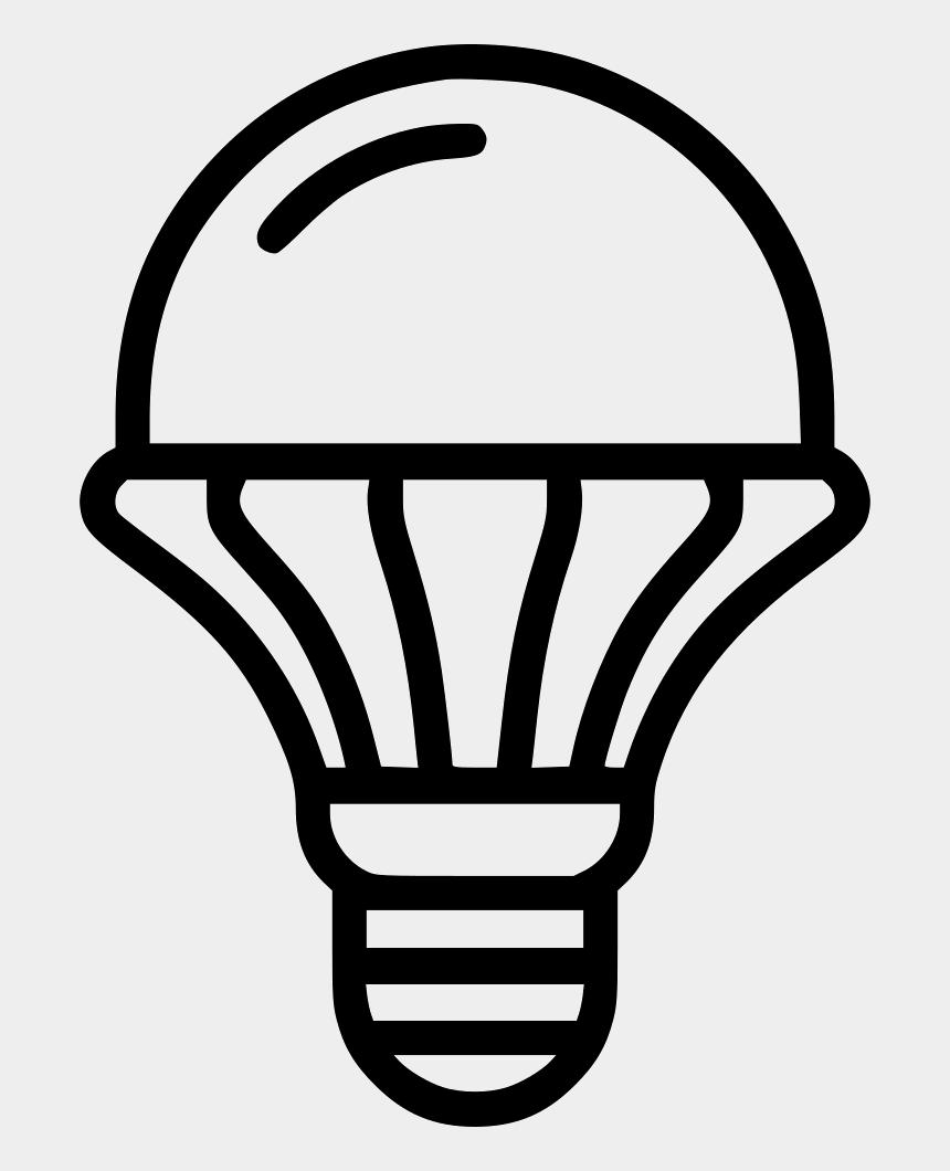 led bulb clipart, Cartoons - Lamp Clipart Artificial Light - Led Light Bulb Icon