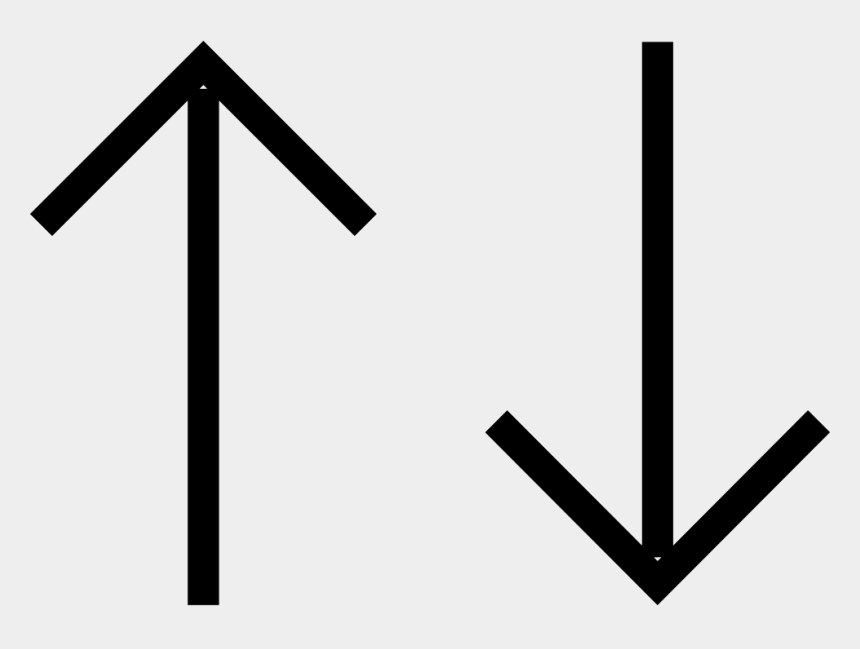 up and down clipart, Cartoons - Up And Down Straight Arrows Comments - Straight Arrow Pointing Down