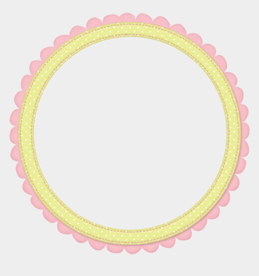 baby girl border clipart, Cartoons - Baby Girl Collection - Circle Border Png Baby