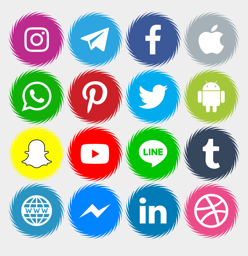 eps clipart, Cartoons - Download 16 Icons Social Media Vector Color Svg Eps - Facebook Instagram Twitter Snapchat Icons