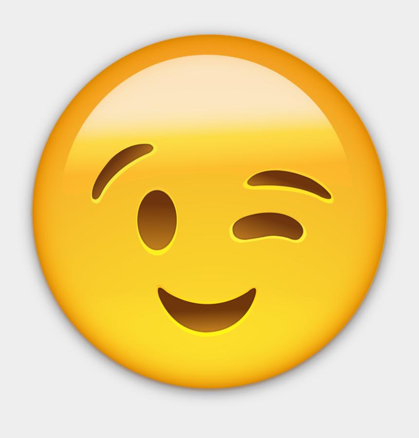 clipart smiley kostenlos, Cartoons - Emoticon Smiley Wink Smile Whatsapp Emoji - Smiley On Whatsapp