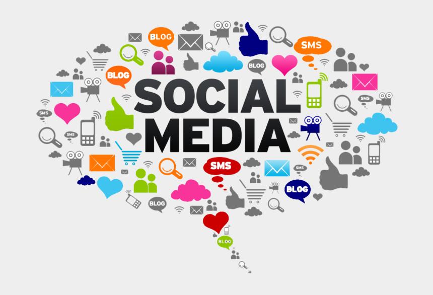 network design clipart, Cartoons - Social Media News Vs - Bubble Social Media Icons