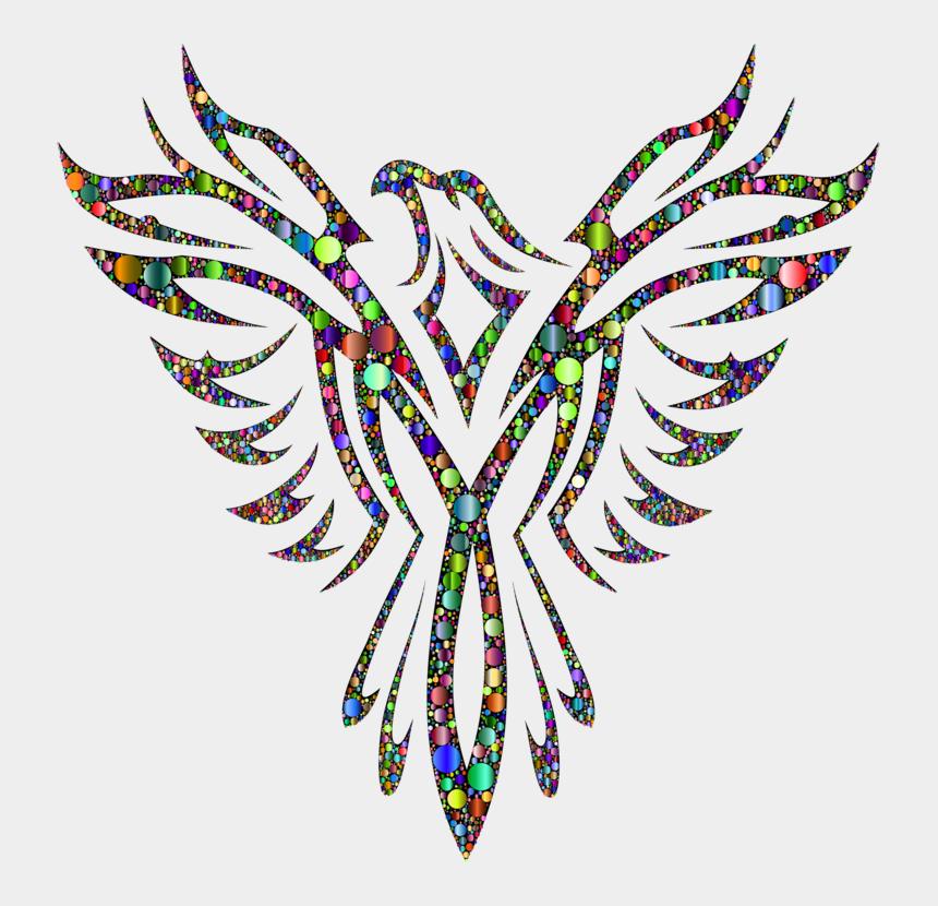 creative arts clipart, Cartoons - Phoenix Firebird Drawing Tattoo - Black And White Phoenix Bird Logo