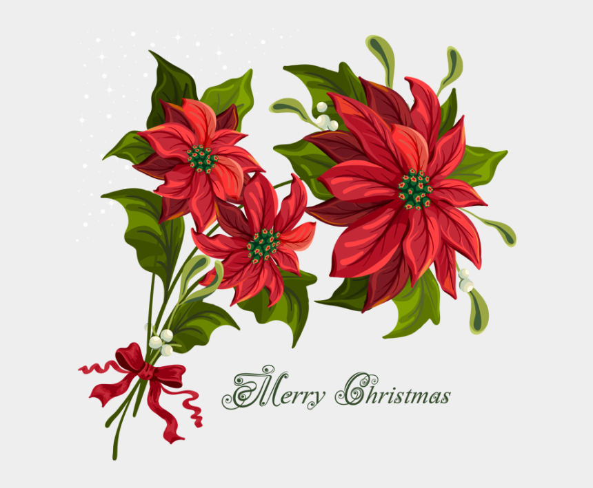 holiday season clipart, Cartoons - Christmas Clip Art For The Holiday Season - Flower Related To Christmas
