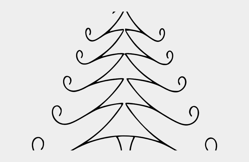 simple christmas clipart, Cartoons - Simple Clipart Christmas - Line Drawing Christmas Tree