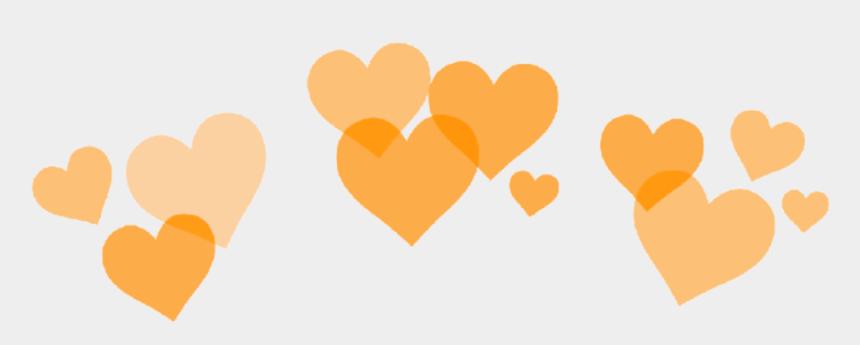 orange heart clipart, Cartoons - #orange #heart #hearts #crown #heartcrown #orange #aesthetic - Heart Crown Png