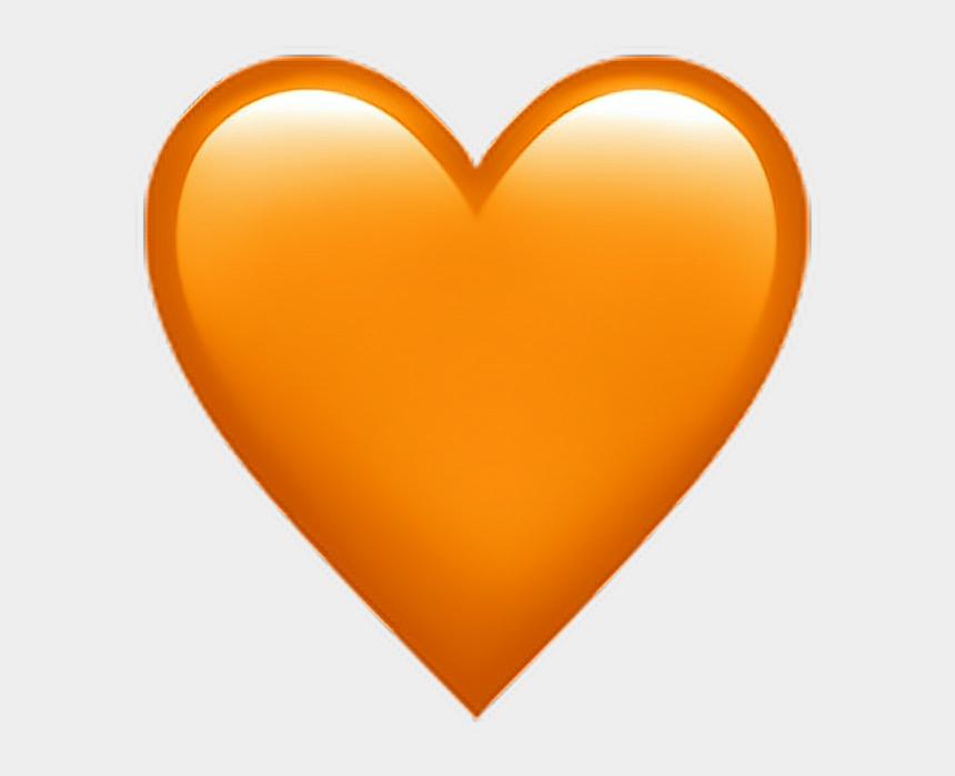 orange heart clipart, Cartoons - Orange Heart Emoji 🧡 - Iphone Orange Heart Emoji