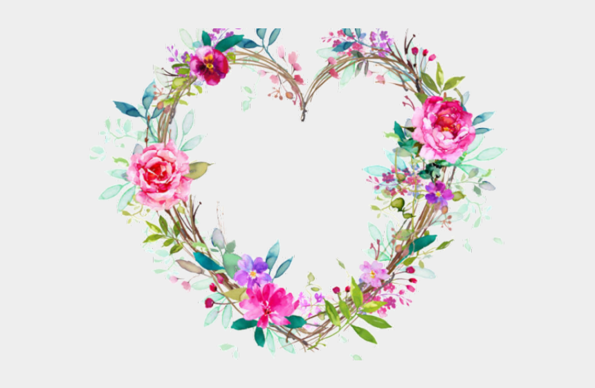 floral heart clipart, Cartoons - Pinterest Clipart Heart - Flower Heart Wreath Png