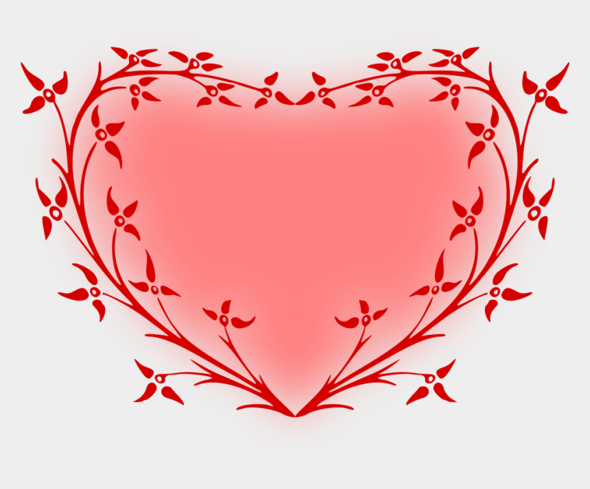 floral heart clipart, Cartoons - Heart Valentine's Day Red Color White - Heart