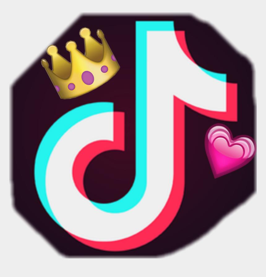 hearth clipart, Cartoons - #tiktok #crown #hearth - Tik Tok Logo With Crown
