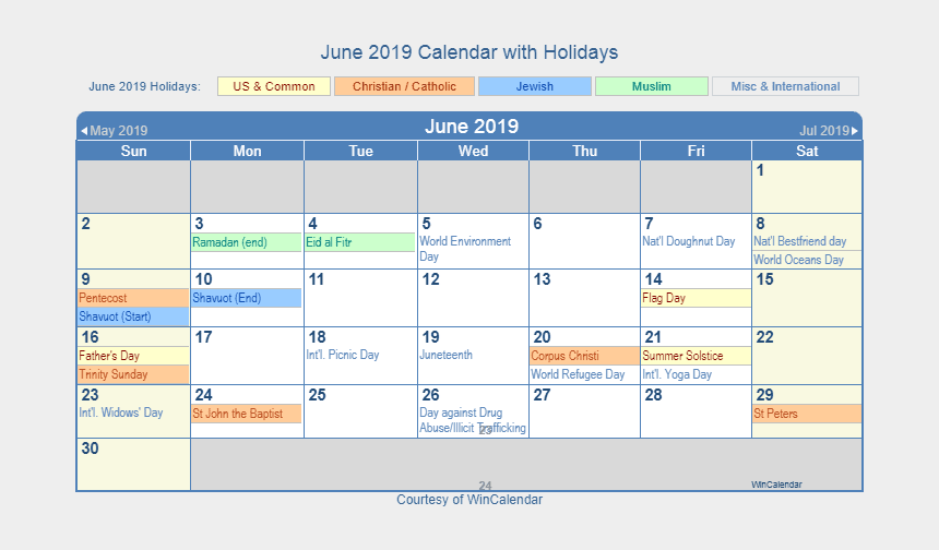 june calendar clipart, Cartoons - Calendar With Holidays Lacalabaza United States For - November 2018 Holiday Calendar