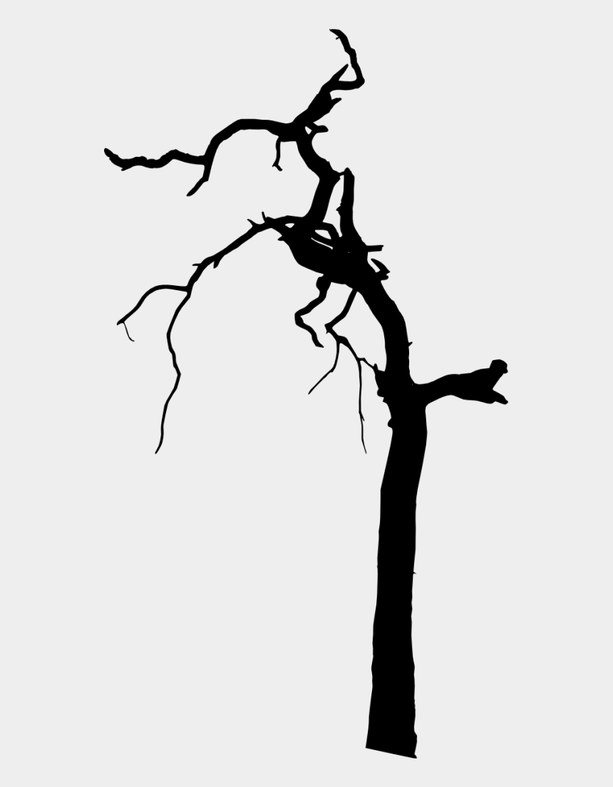 creepy tree clipart, Cartoons - 665 × 1200 Px - Spooky Dead Tree Png