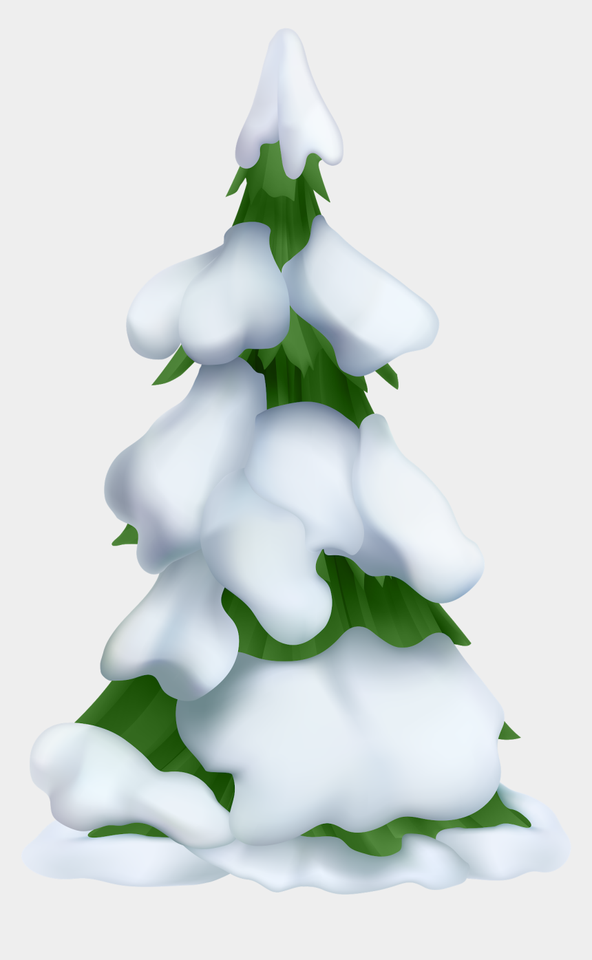 tree with snow clipart, Cartoons - White Christmas Tree Png - Snow Covered Trees Clipart
