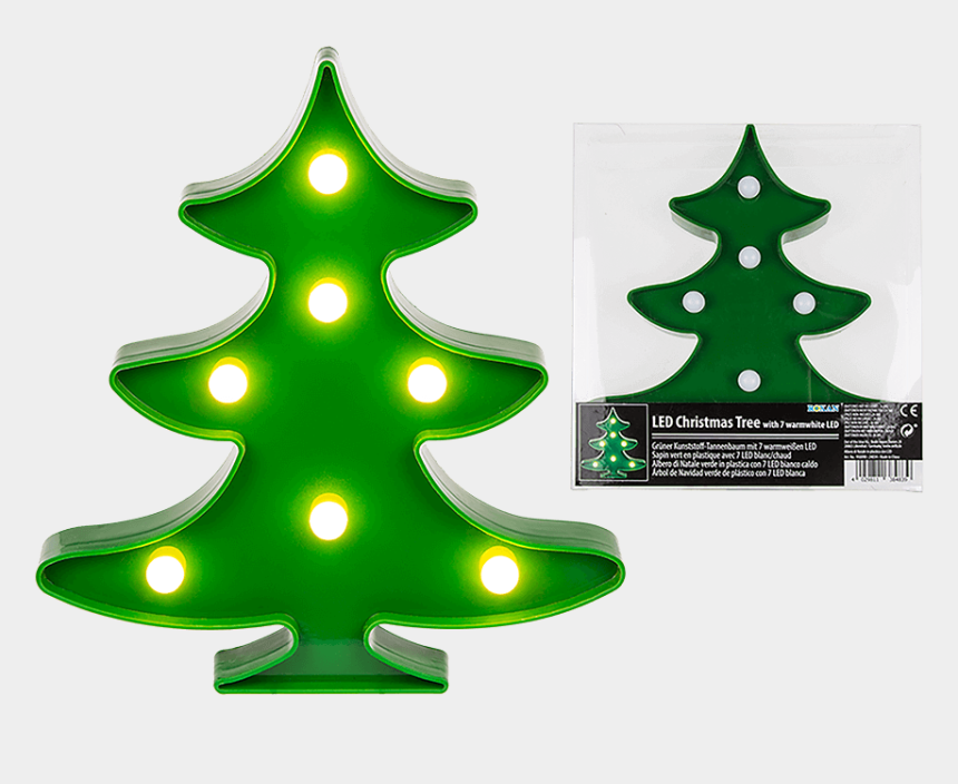 christmas tree lights clipart, Cartoons - Ggc Green Led Christmas Tree Light , Png Download - Led Işıklı Yılbaşı Ağacı