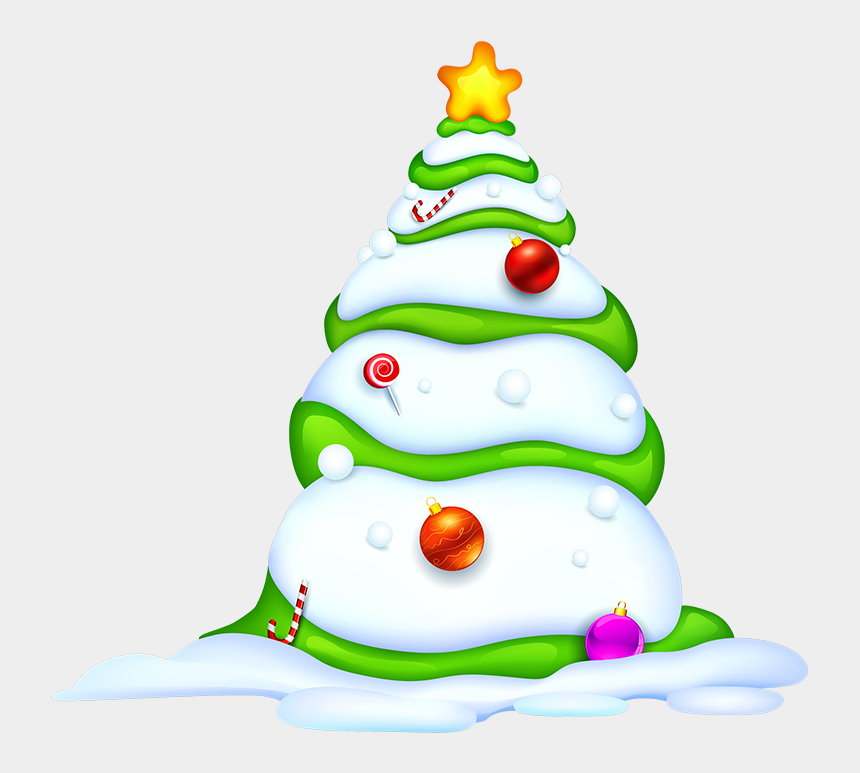 snowy tree clipart, Cartoons - Http - //gallery - Yopriceville - Com/free Clipart - Рабочий Стол Новогоднии Олени