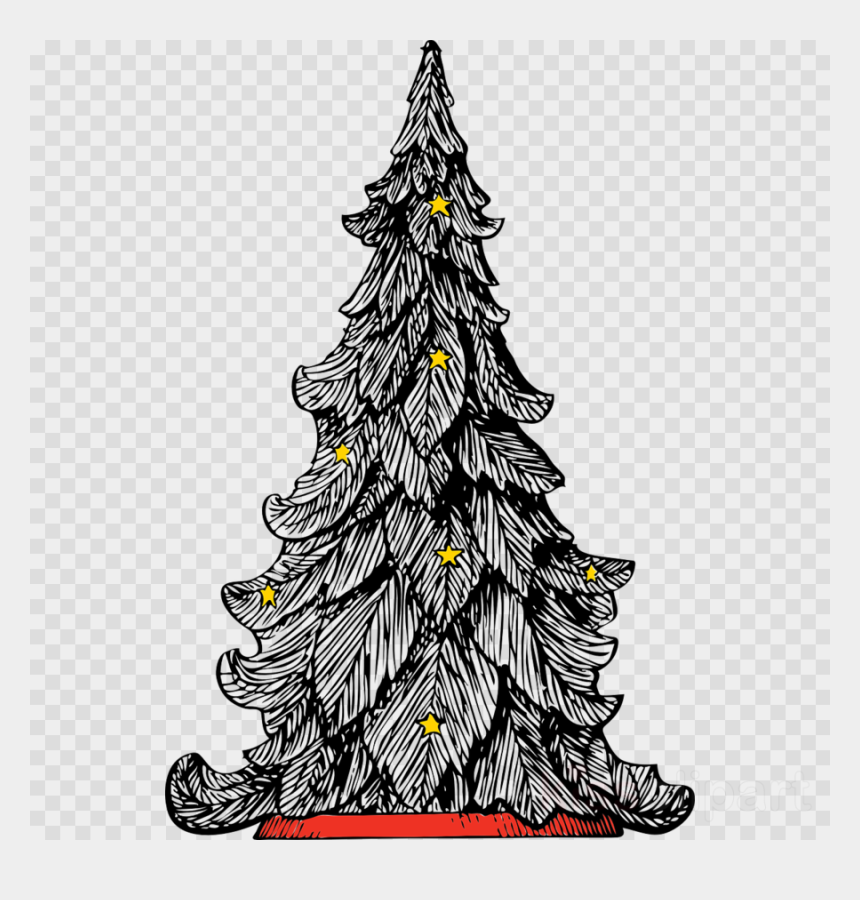 Fortnite Christmas Tree Background.Black And White Christmas Tree Art Clipart Christmas Dark