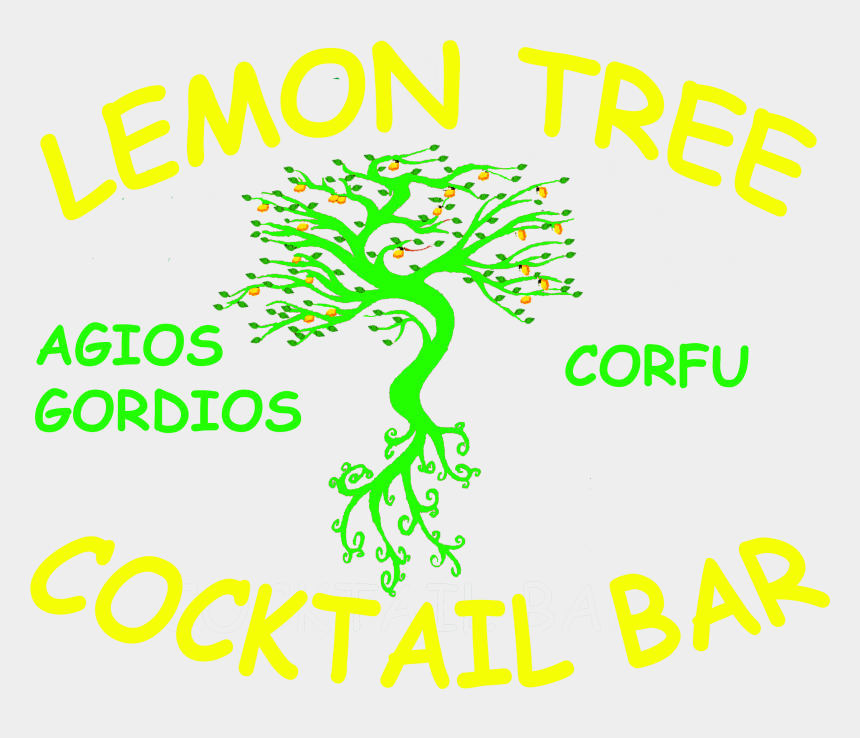 lemon tree clipart, Cartoons - Lemon Tree Bar Corfu - Graphic Design