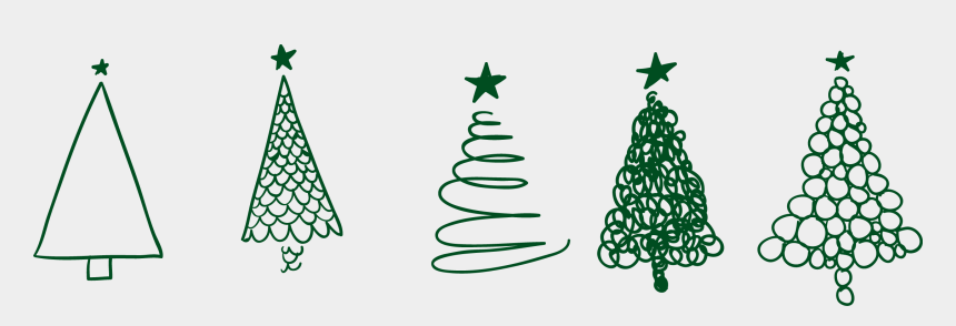 christmas tree clip art outline, Cartoons - Christmas Tree Png Drawing