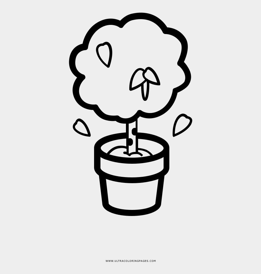 birch tree clip art, Cartoons - Apple Tree In A Pot Cartoon
