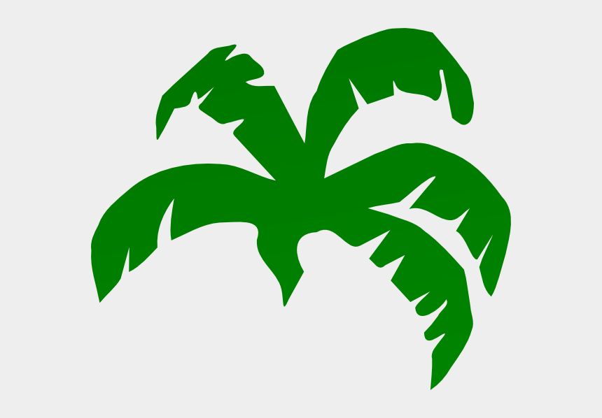 palm tree leaves clip art, Cartoons - Banana Leaves Clip Art