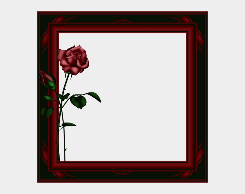 red frame clip art, Cartoons - Dark Rose Frame Png