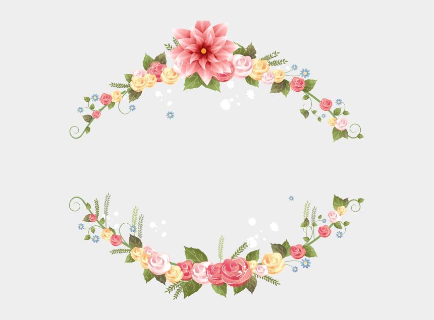 wedding garland clipart, Cartoons - Flower Wedding Invitation Png