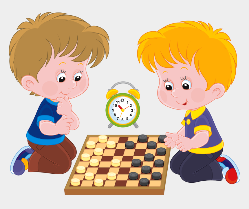playing game clipart, Cartoons - Child Playing Chess Clipart