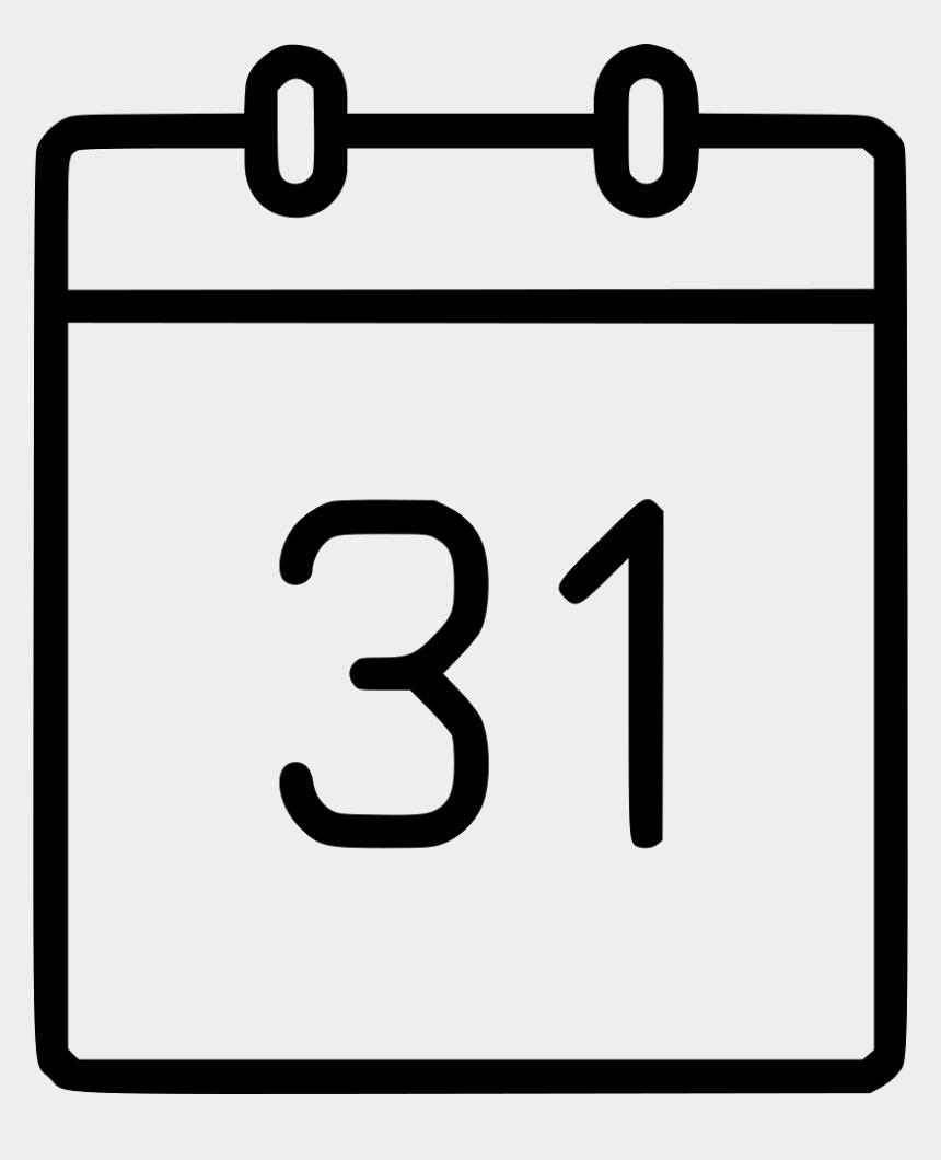calendar events clipart, Cartoons - Test Black And White
