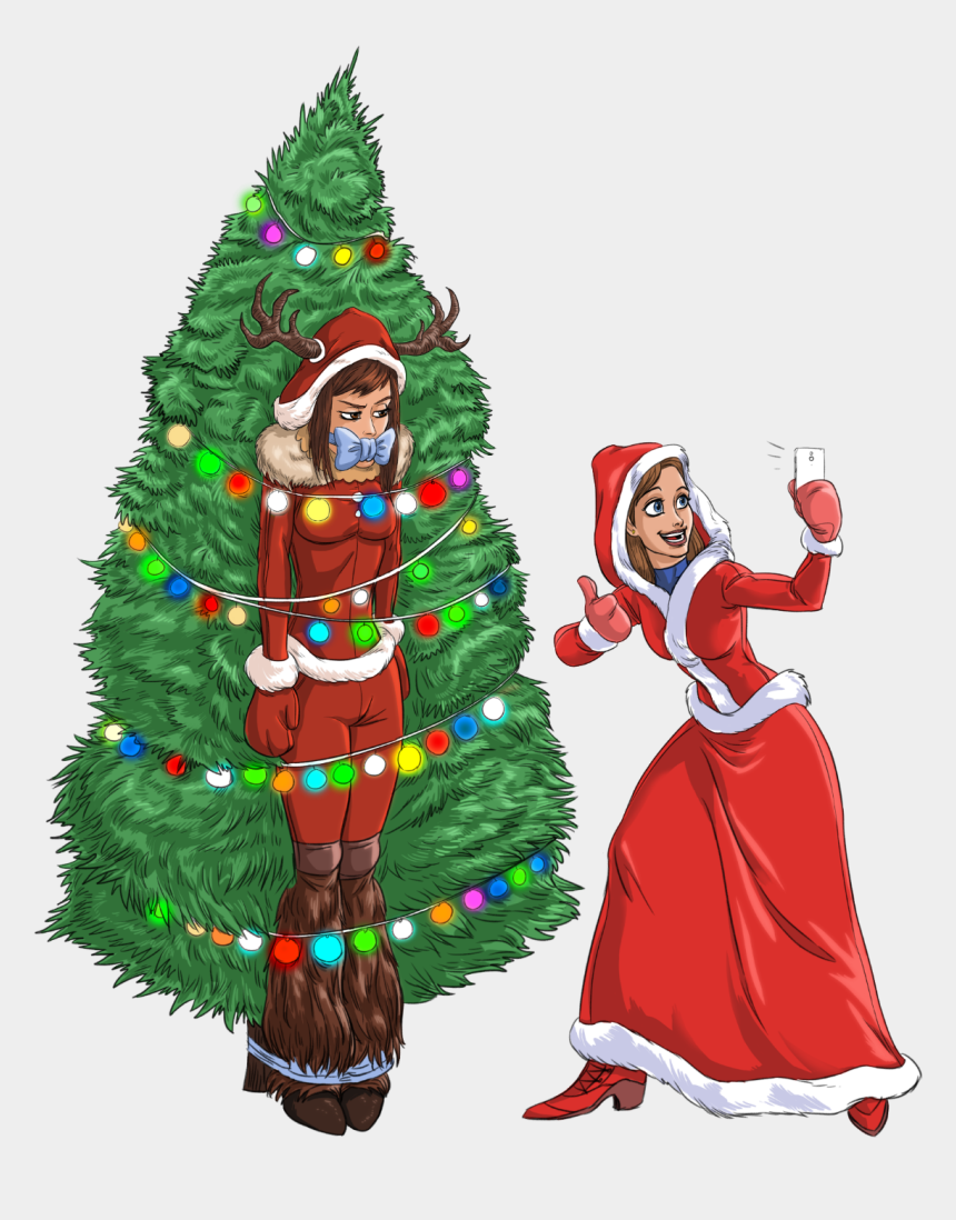 christmas tree decoration clipart, Cartoons - Christmas Day