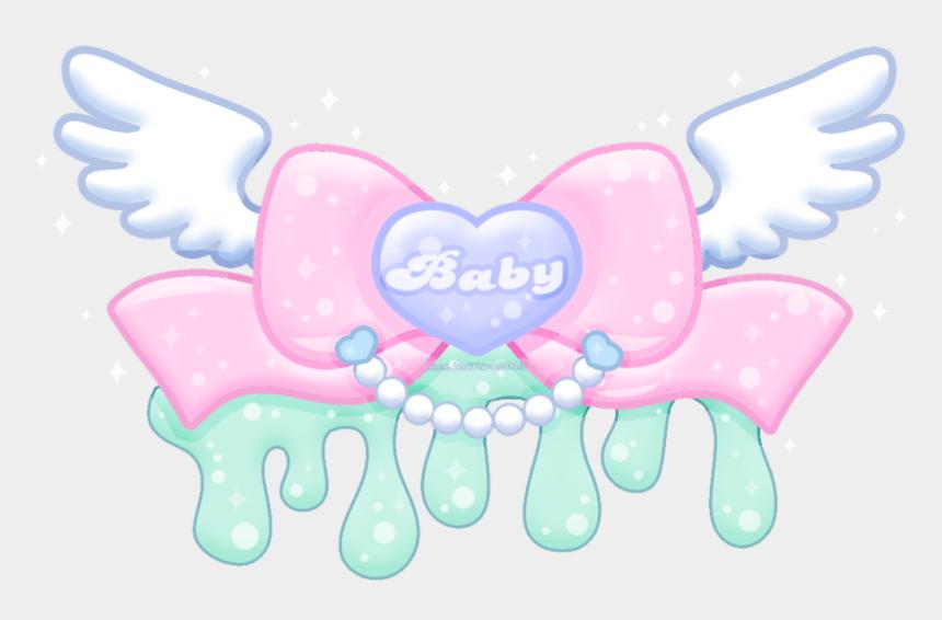 baby angel wings clipart, Cartoons - Cute Kawaii Heart Wings