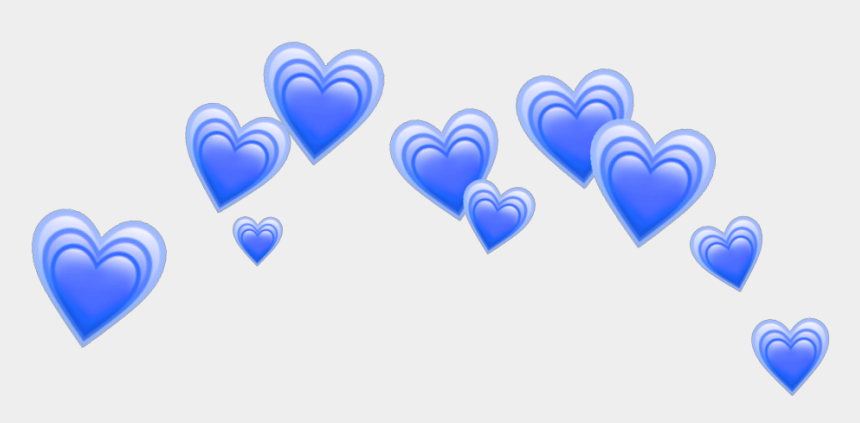 blue hearts clipart, Cartoons - Heart Emoji Crown Png