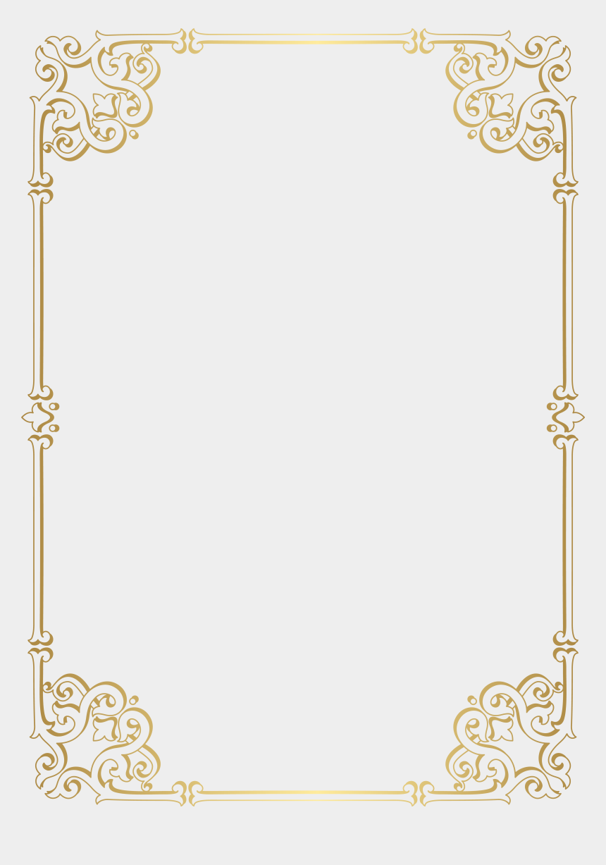 decorative frames clipart, Cartoons - Decorative Gold Frame Png
