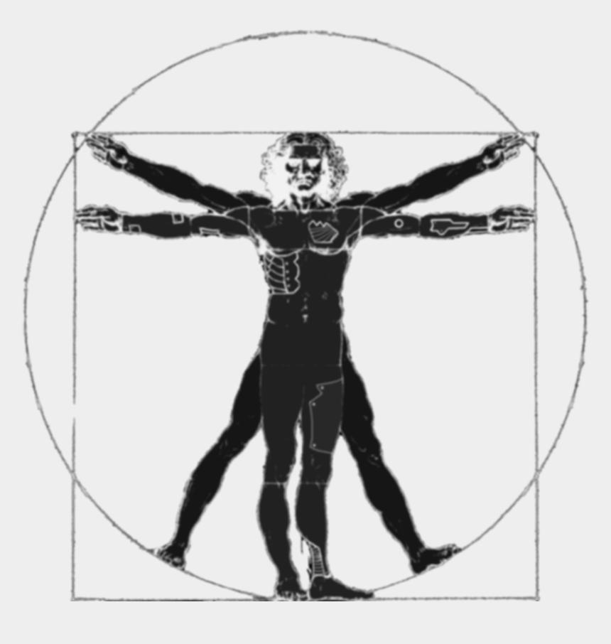 strong man silhouette clip art, Cartoons - Vitruvius Man Png