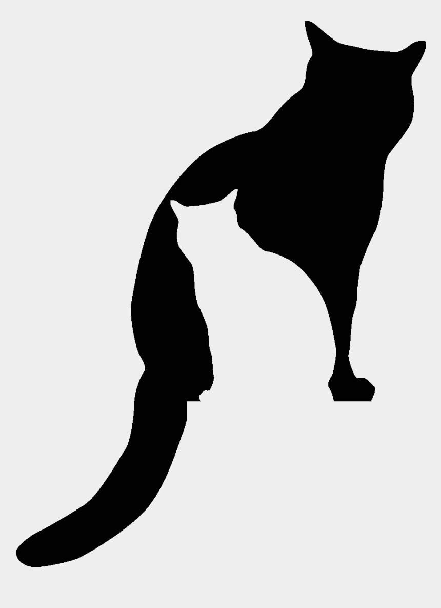 sleeping cat silhouette clip art, Cartoons - Sticker