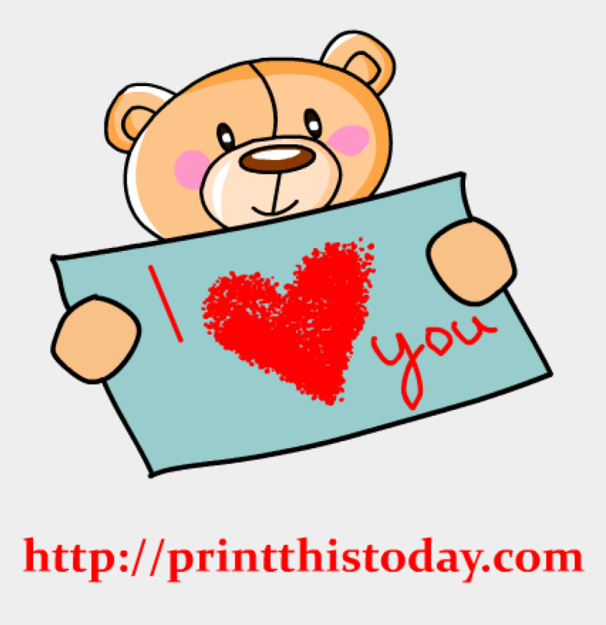 clipart panda heart, Cartoons - Loving Teddy Bear Clip Art