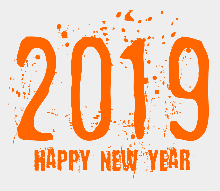 free clipart for new years 2019, Cartoons - Png Format 2019 Happy New Year Png