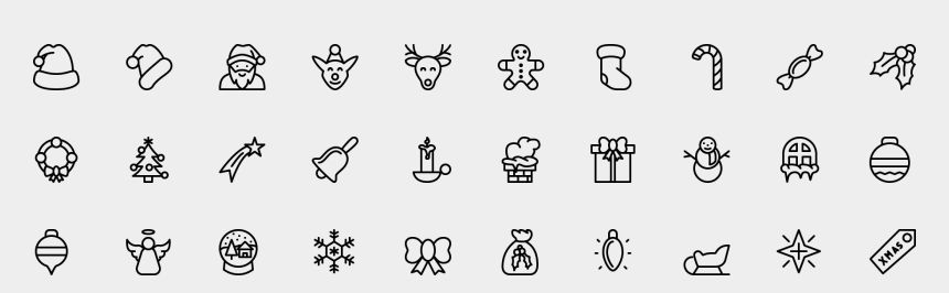 christmas icon clip art, Cartoons - Transparent Christmas Icon Png