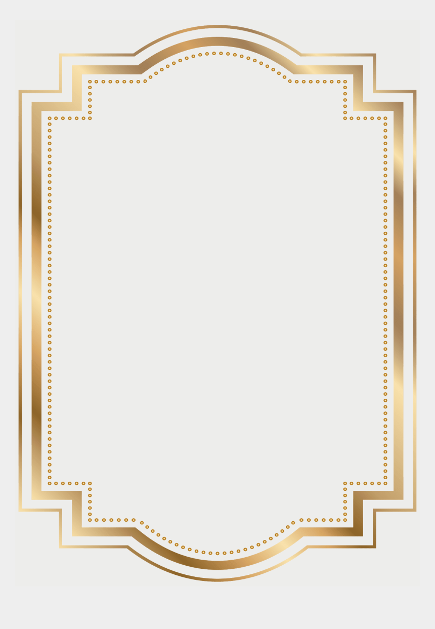 certificate frame clipart, Cartoons - Frame Border Gold