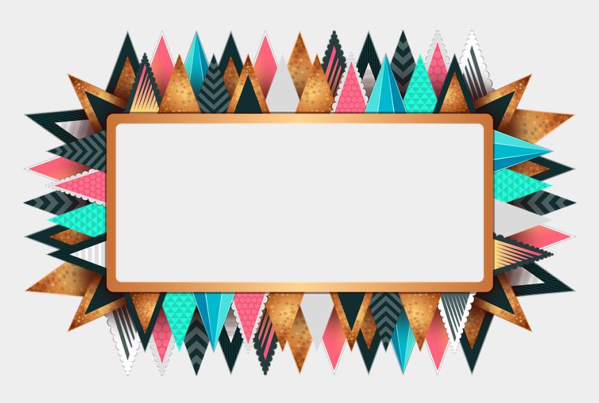 decorative border clip art, Cartoons - Rectangle Frame Design Png