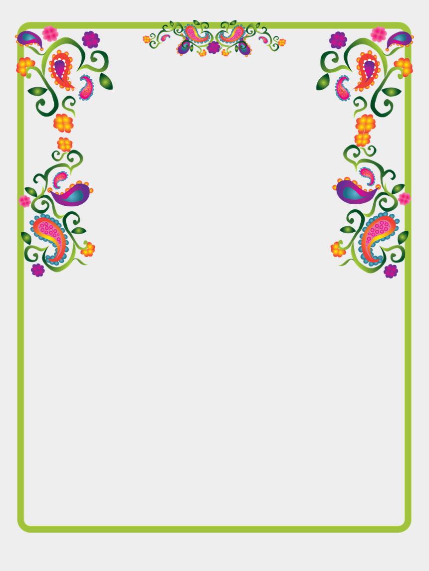 decorative border clip art, Cartoons - Note Border