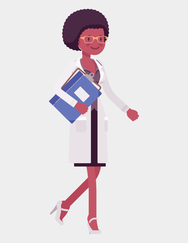 black female clipart, Cartoons - Black Female Scientist Cartoon