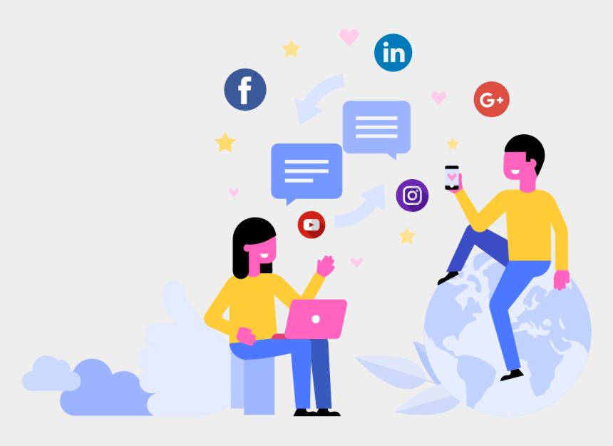 social media clipart png, Cartoons - Social Media Sharing Clipart